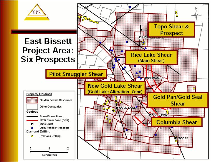 Golden Pocket Resources (GPR) Bissett Property